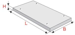 Плиты перекрытия плоские марки ПТП