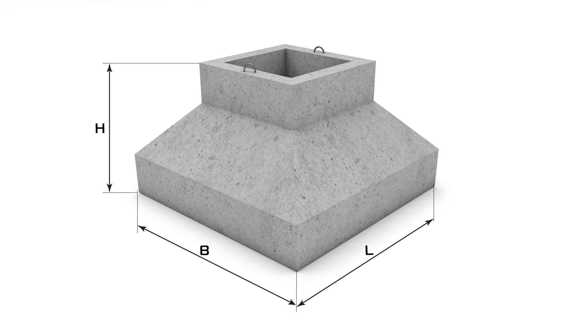 фундамент стаканного типа под колонны 300х300